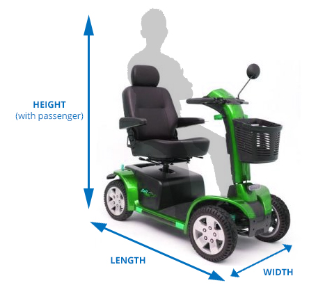 mobility scooter dimensions